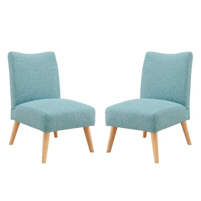 Waldrup Slipper Chair Upholstery: Aqua