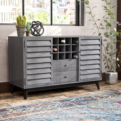 Dover Wine Bar Cabinet Color: Gray Oak