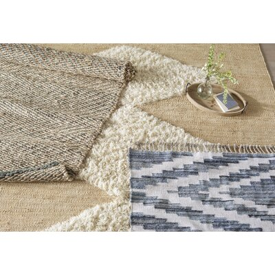 Cunningham Hand-Woven Beige Area Rug Rug Size: Rectangle 86 x 116