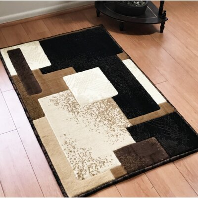 Freshman Traditional Black Area Rug Rug Size: Rectangle 2 x 3
