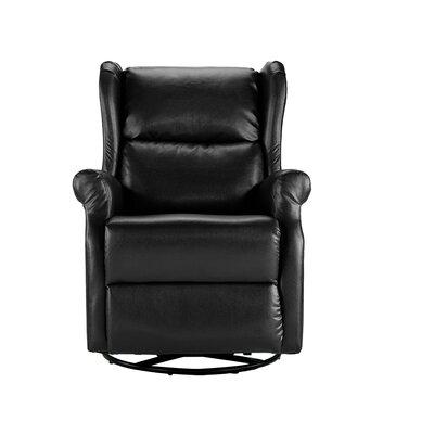 Hosler Manual Swivel Recliner Color: Black