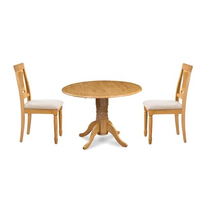 Kelston Mills 3 Piece Drop Leaf Breakfast Nook Dining Set