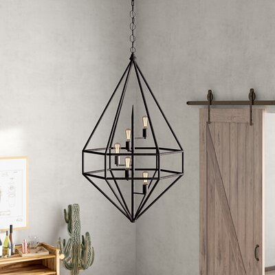 Jayme 5-Light Foyer Pendant Finish: Aged Iron
