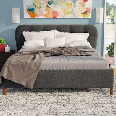 Ostrowski Upholstered Platform Bed Size: Queen, Color: Dark Grey
