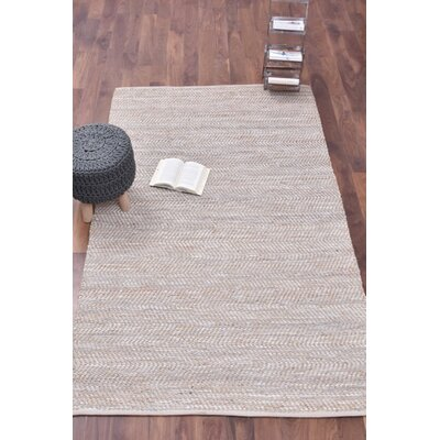 Boise Hand-Woven Beige Area Rug Rug Size: Rectangle 5 x 8