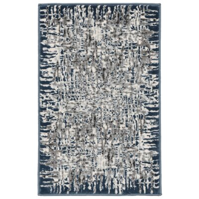 Lhasa Shadows Blue Area Rug Rug Size: Rectangle 4'10