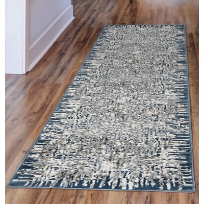 Lhasa Shadows Blue Area Rug Rug Size: Runner 1'11