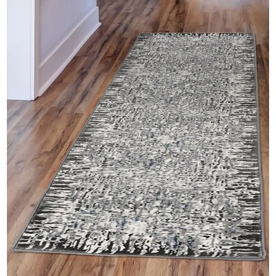 Lhasa Shadows Gray Area Rug Rug Size: Runner 111 W x  76 L