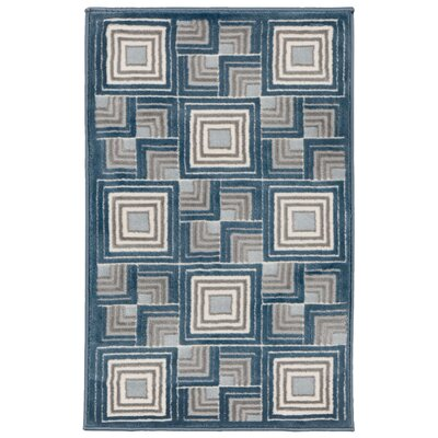 Lhasa Boxes Blue Area Rug Rug Size: Rectangle 710 W x  910 L
