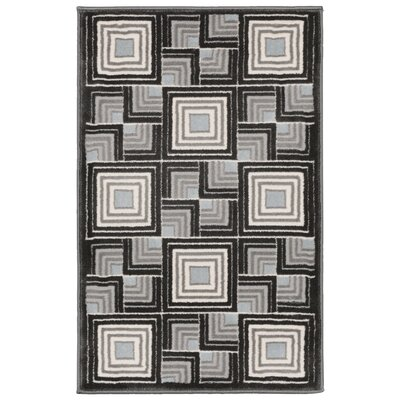 Lhasa Boxes Blue Area Rug Rug Size: Rectangle 111 W x  211 L