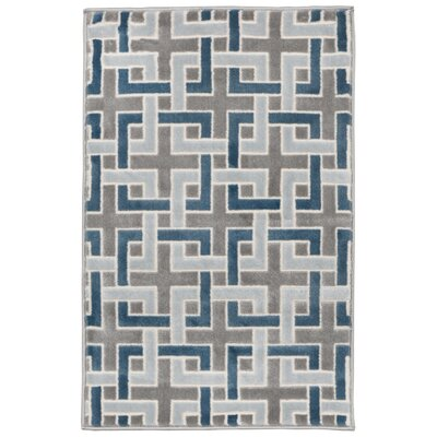 Lhasa Deco Blue Area Rug Rug Size: Rectangle 410 W x  76 L