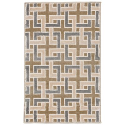 Lhasa Deco Beige Area Rug Rug Size: Rectangle 111 W x  211 L