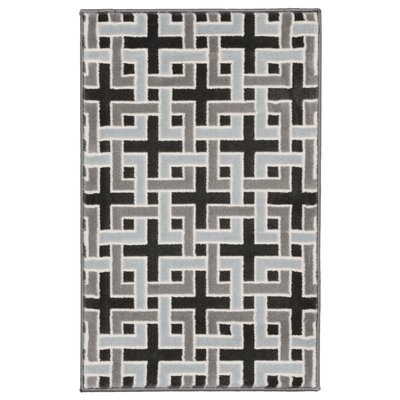Lhasa Deco Blue Area Rug Rug Size: Rectangle 710 W x  910 L