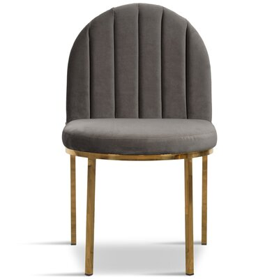 Upholstered Dining Chair Upholstery Color: Dark Gray