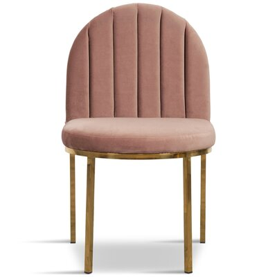 Upholstered Dining Chair Upholstery Color: Mauve