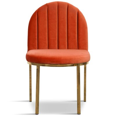 Upholstered Dining Chair Upholstery Color: Paprika