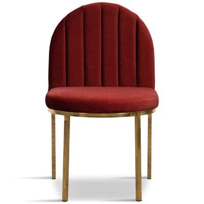 Upholstered Dining Chair Upholstery Color: Merlot