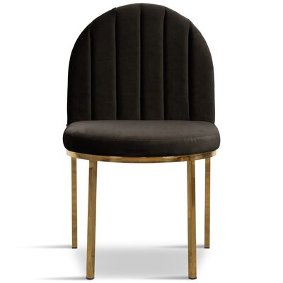 Upholstered Dining Chair Upholstery Color: Black