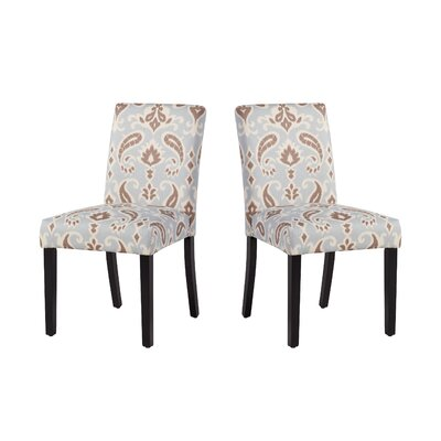 Marie-Anne Upholstered Dining Chair Upholstery: Blue/Brown Paisley