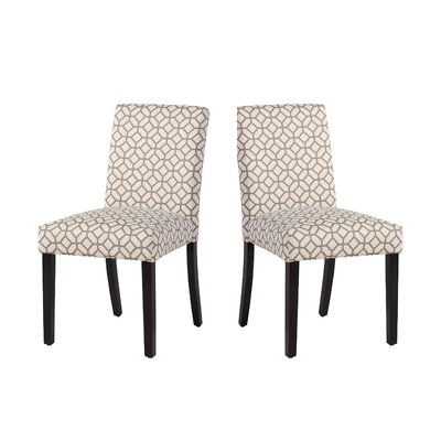 Marie-Anne Upholstered Dining Chair Upholstery: Gray Geometric