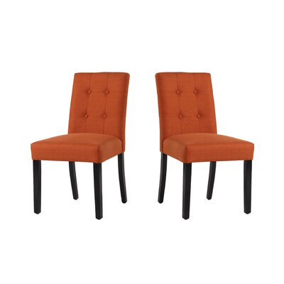 Marie-Anne Upholstered Dining Chair Upholstery: Henna