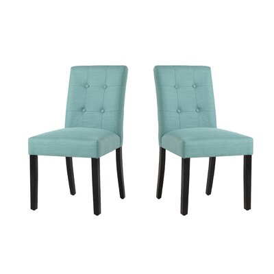 Marie-Anne Upholstered Dining Chair Upholstery: Laguna