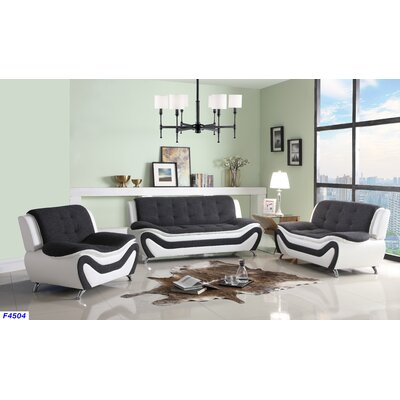 Giesler 3 Piece Living Room Set