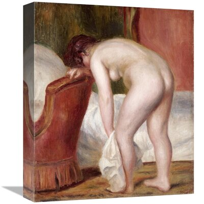 'Female Nude Drying Herself' by Pierre-Auguste Renoir Print on Canvas CFE5923D76594395B60F88210697A5CE