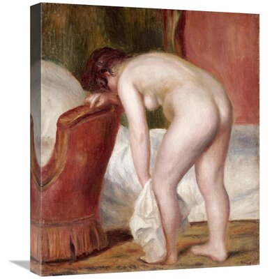 'Female Nude Drying Herself' by Pierre-Auguste Renoir Print on Canvas A7B10C2822AC435492D962656A524AD8