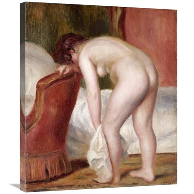 'Female Nude Drying Herself' by Pierre-Auguste Renoir Print on Canvas B8C38443A79D4E43AA07272AEA7A42D3