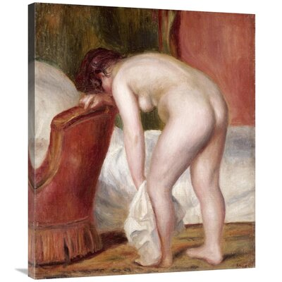'Female Nude Drying Herself' by Pierre-Auguste Renoir Print on Canvas F81A63D3232D4D7FBE598AEF7253D5EA