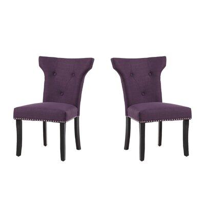 Roseta Upholstered Dining Chair Upholstery: Aubergine