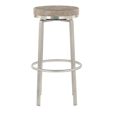 Oresman 30 Swivel Bar Stool Upholstery: Retro Taupe Faux Leather