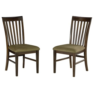 Vadlamudi Solid Wood Dining Chair Upholstery Color: Cappuccino, Frame Color: Walnut