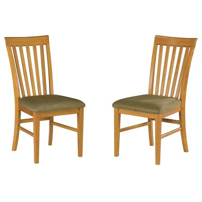 Vadlamudi Solid Wood Dining Chair Upholstery Color: Cappuccino, Frame Color: Caramel