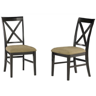 Harvel Solid Wood Dining Chair Upholstery Color: Cappuccino, Frame Color: Espresso