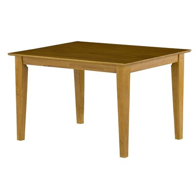 Crestwood Dining Table Color: Caramel, Size: 29.375 H x 36 W x 48 D