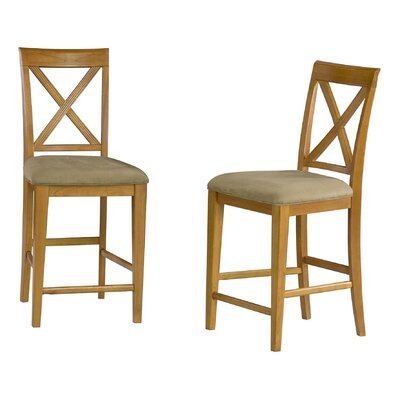 Harvel 25.25 Bar Stool Upholstery Color: Cappuccino, Frame Color: Caramel