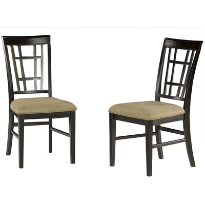 Bluffview Solid Wood Dining Chair Upholstery Color: Cappuccino, Frame Color: Espresso