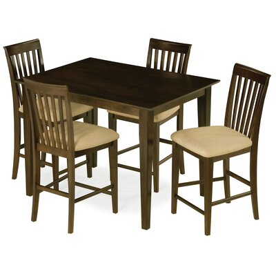 Crestwood 5 Piece Counter Height Dining Set Color: Walnut