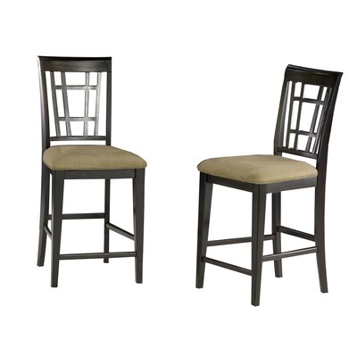 Bluffview 22.25 Bar Stool Upholstery Color: Cappuccino, Frame Color: Espresso