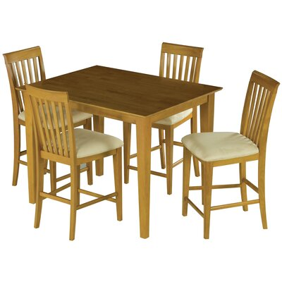 Crestwood 5 Piece Counter Height Dining Set Color: Caramel