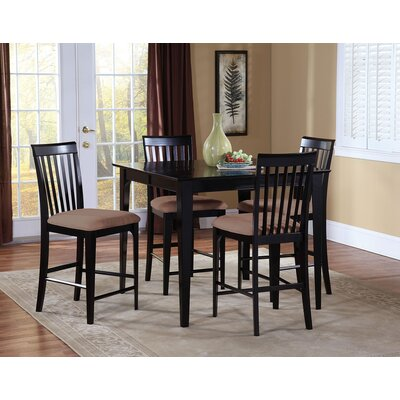 Crestwood 5 Piece Counter Height Dining Set Color: Espresso