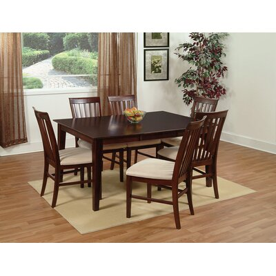 Crestwood 7 Piece Dining Set Chair Color: Beige