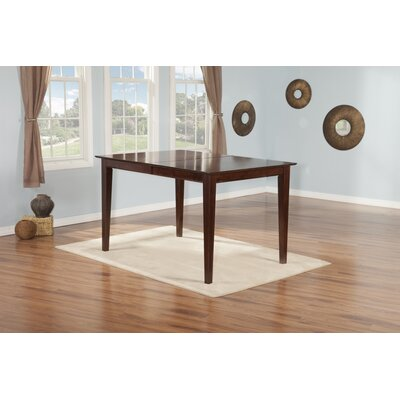 Poulos Dining Table Color: Walnut, Size: 35.75 H x 36 W x 60 D