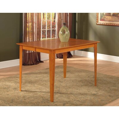 Poulos Dining Table Color: Caramel, Size: 35.75 H x 36 W x 60 D