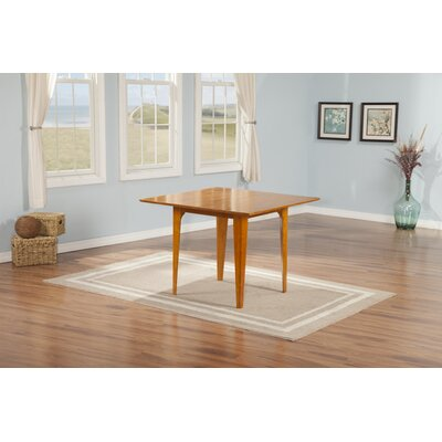 Poulos Dining Table Color: Caramel, Size: 29.375 H x 39 W x 39 D