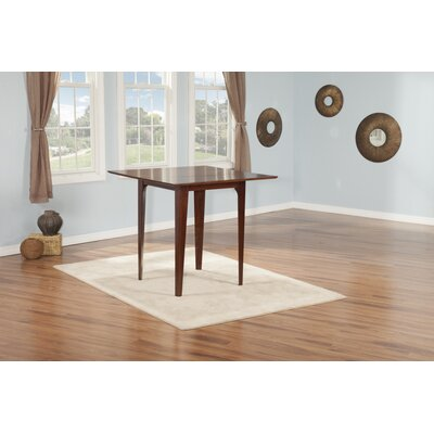 Poulos Dining Table Color: Walnut, Size: 35.75 H x 39 W x 39 D