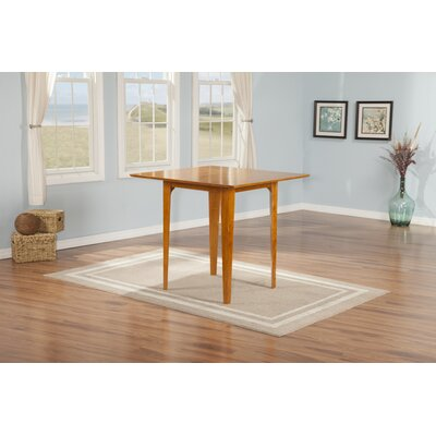Poulos Dining Table Color: Caramel, Size: 35.75 H x 39 W x 39 D