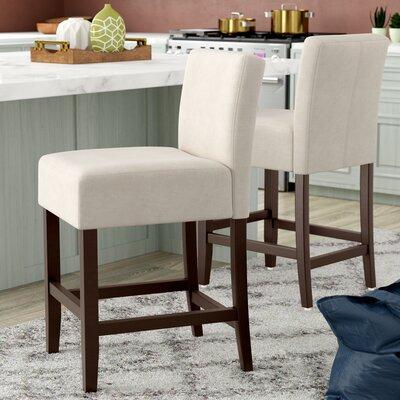 Ingleside 26 Bar Stool Upholstery: Beige